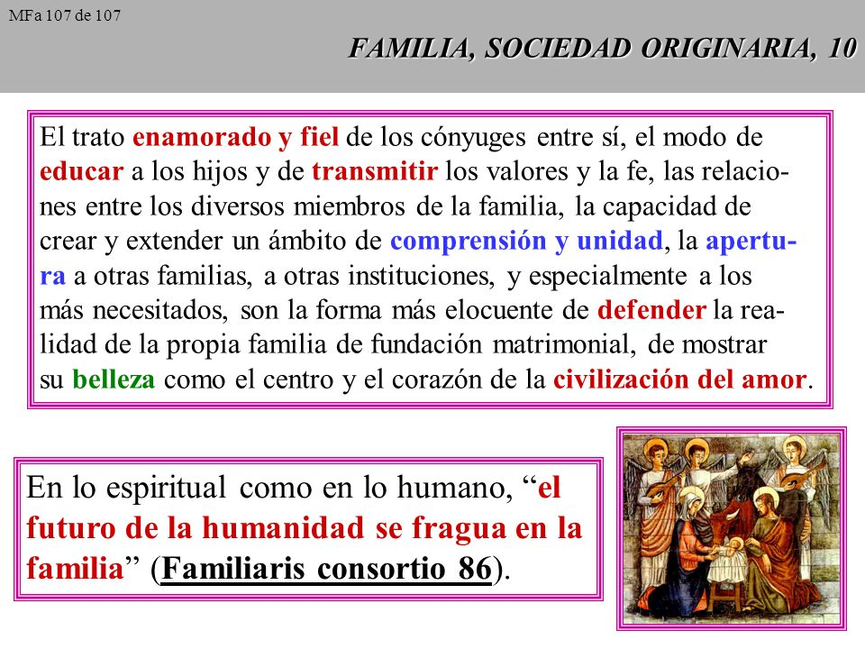 FAMILIA, SOCIEDAD ORIGINARIA, 10