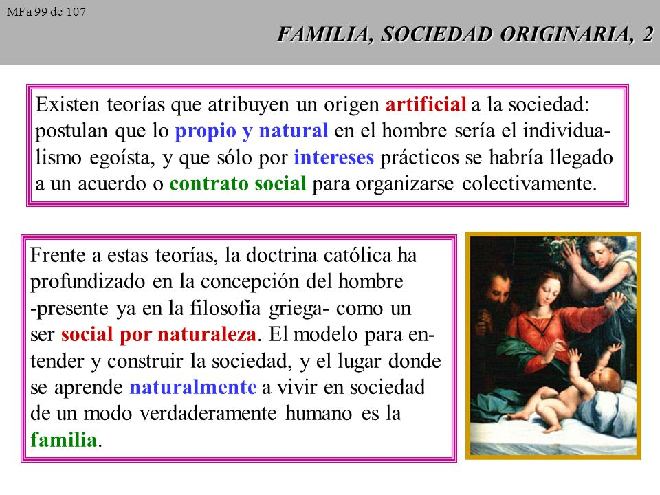 FAMILIA, SOCIEDAD ORIGINARIA, 2