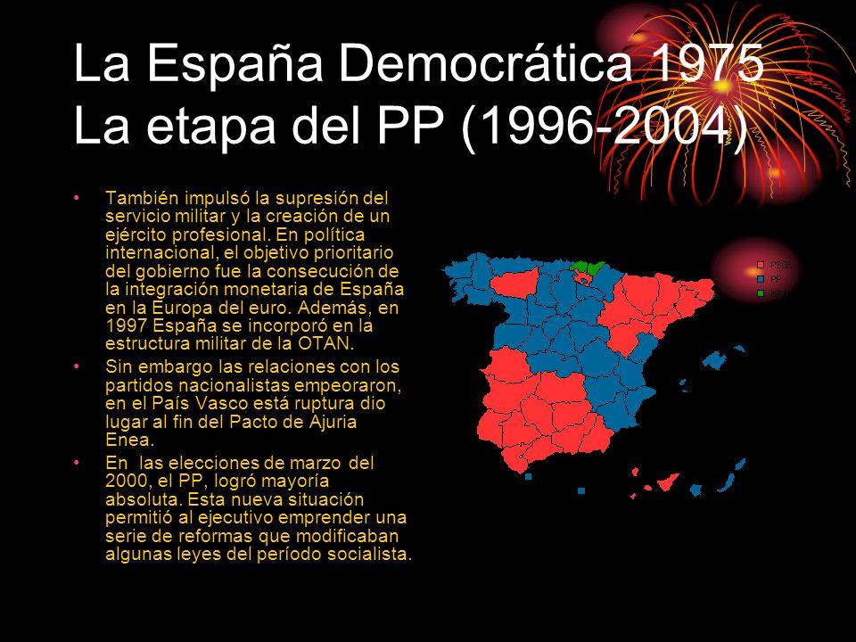 La España Democrática 1975 La etapa del PP (1996-2004)