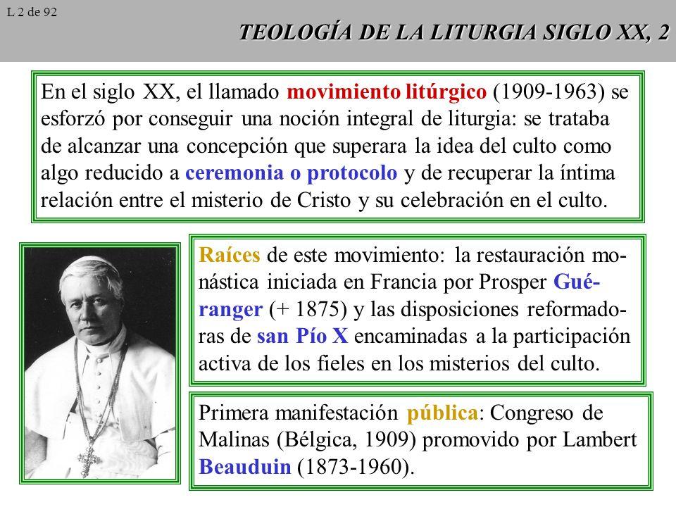TEOLOGÍA DE LA LITURGIA SIGLO XX, 2