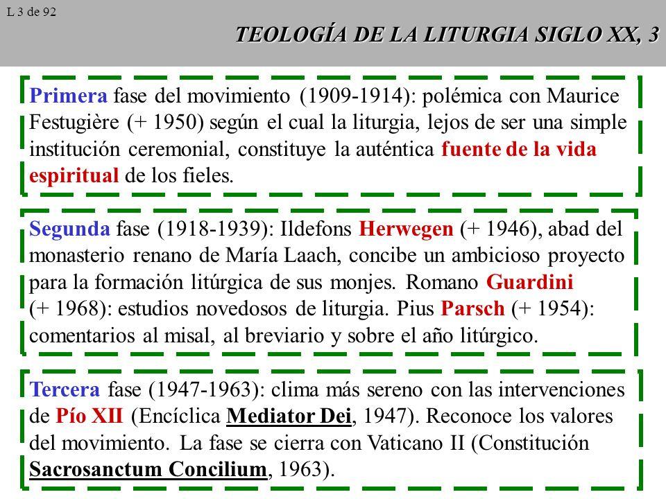 TEOLOGÍA DE LA LITURGIA SIGLO XX, 3