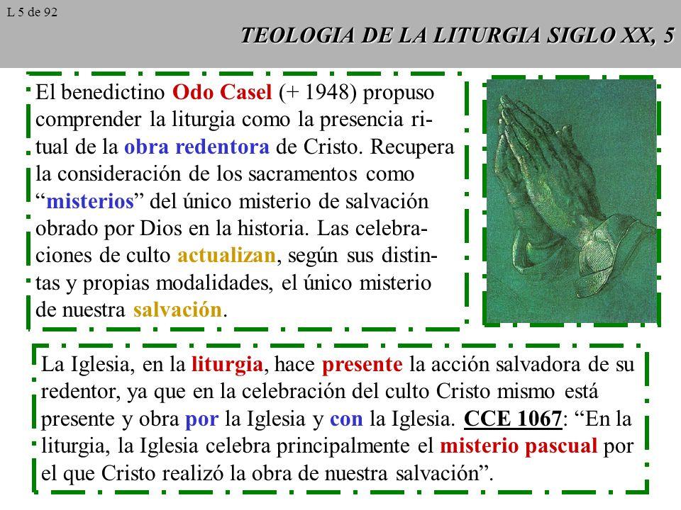 TEOLOGIA DE LA LITURGIA SIGLO XX, 5