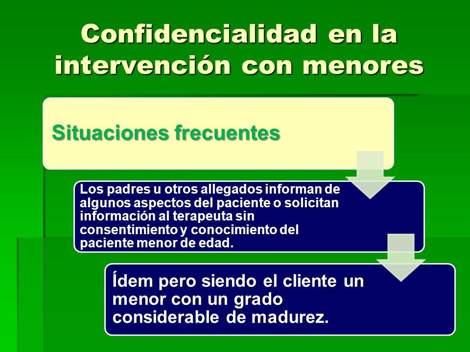 Confidencialidad en la intervención con menores