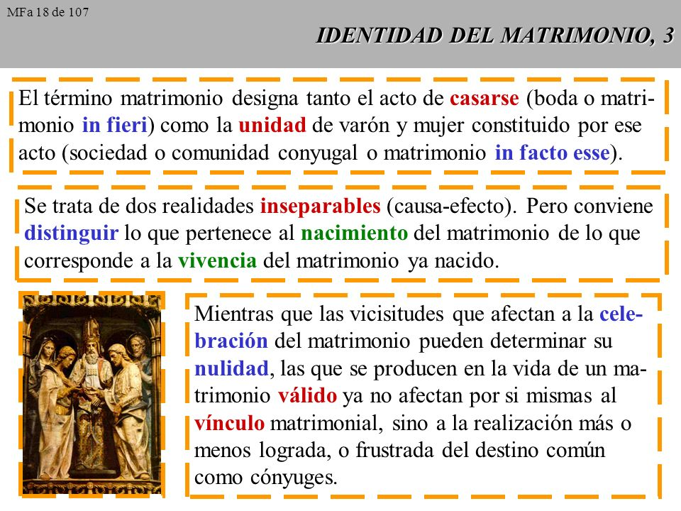 IDENTIDAD DEL MATRIMONIO, 3