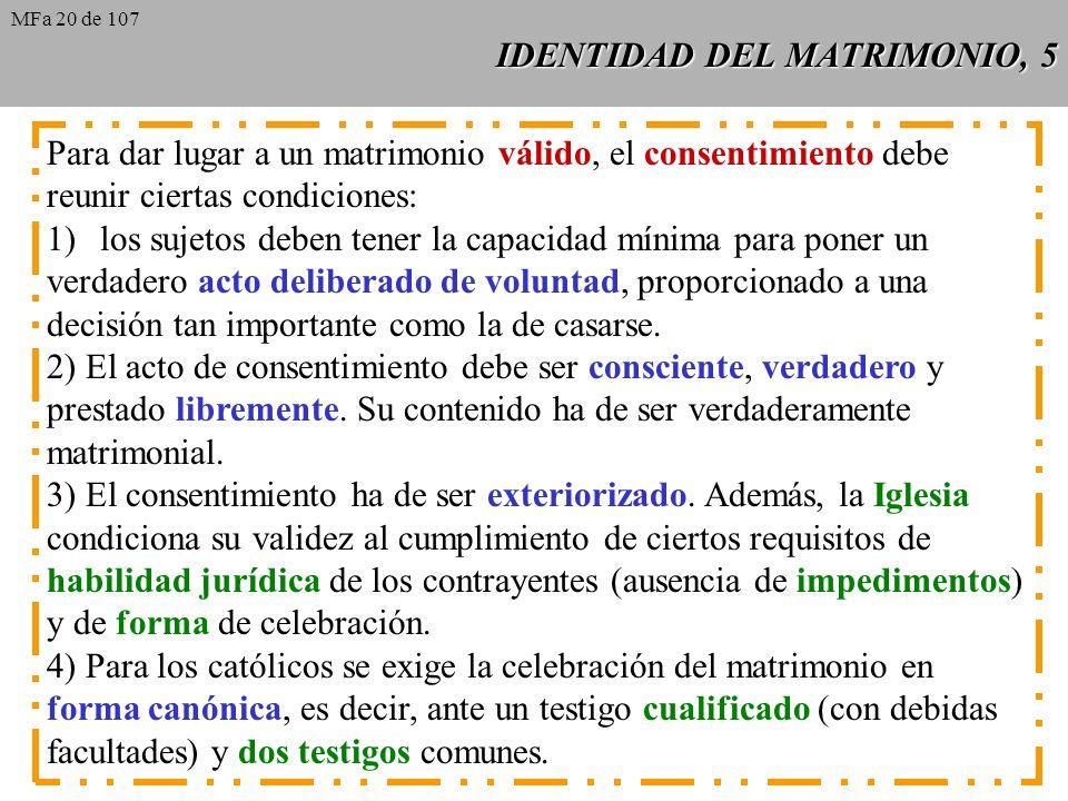 IDENTIDAD DEL MATRIMONIO, 5