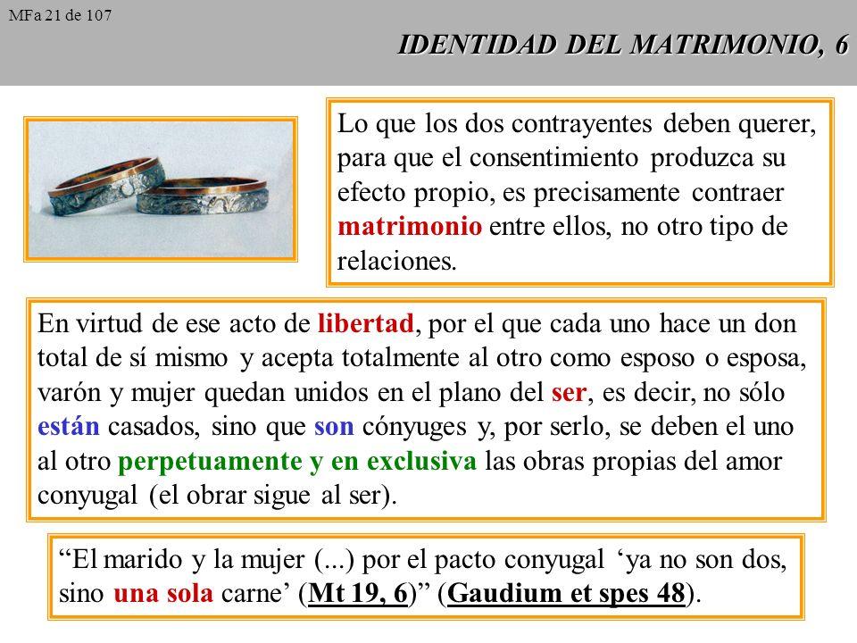IDENTIDAD DEL MATRIMONIO, 6