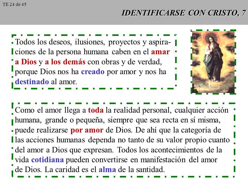 IDENTIFICARSE CON CRISTO, 7