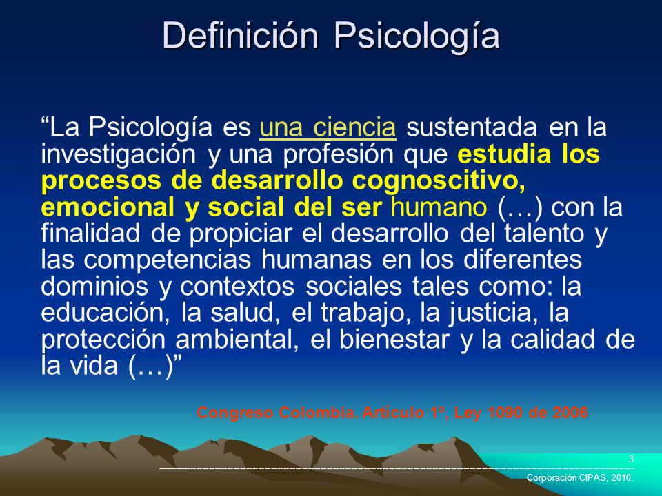Definición Psicología