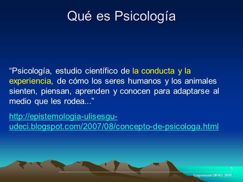 Qué es Psicología