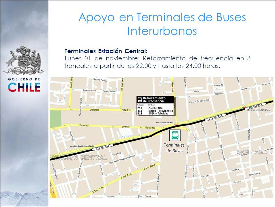 Apoyo en Terminales de Buses Interurbanos