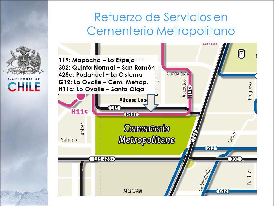 Refuerzo de Servicios en Cementerio Metropolitano
