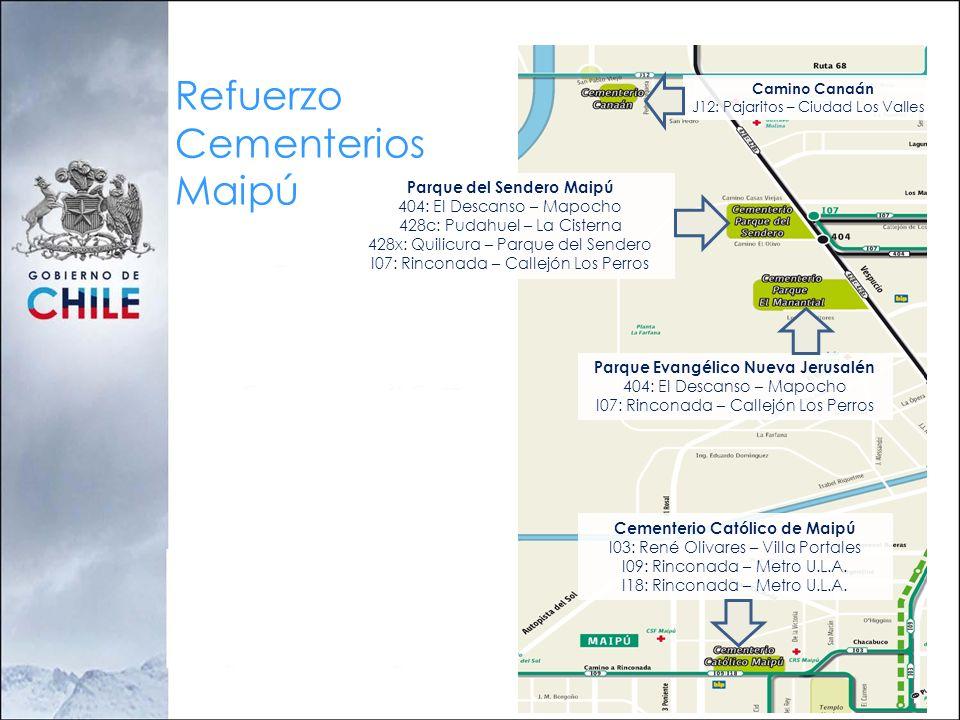 Refuerzo Cementerios Maipú