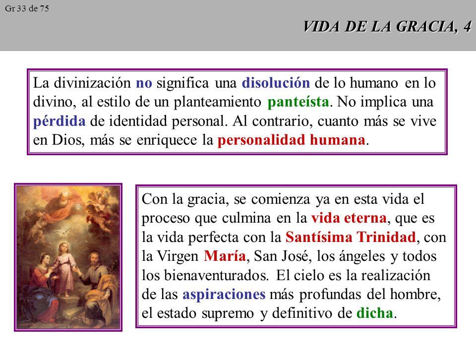 La divinización no significa una disolución de lo humano en lo