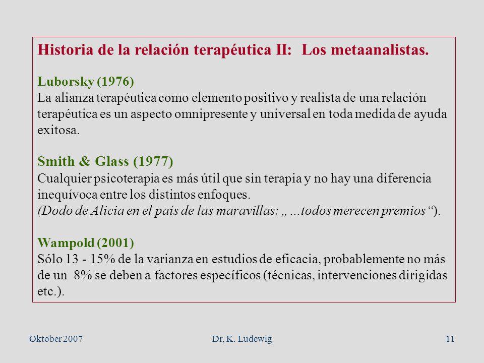 Historia de la relación terapéutica II: Los metaanalistas.