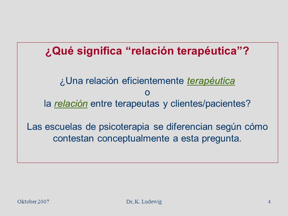 ¿Qué significa relación terapéutica