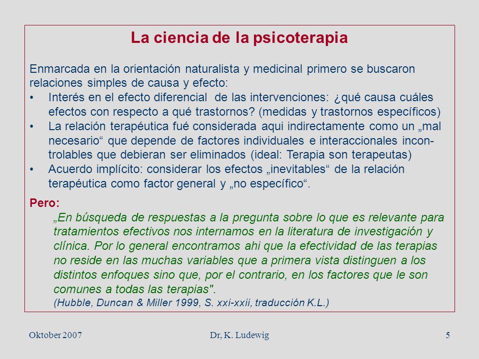 La ciencia de la psicoterapia