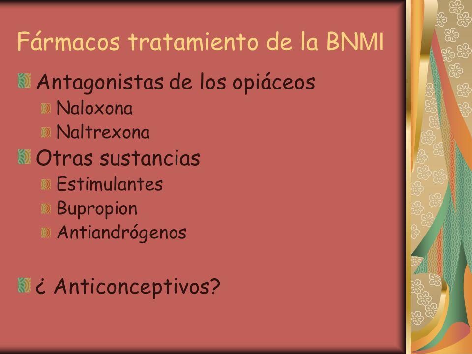 Fármacos tratamiento de la BNMI