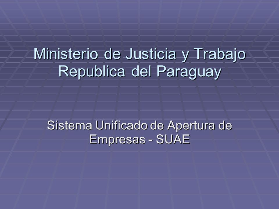 Ministerio de Justicia y Trabajo Republica del Paraguay
