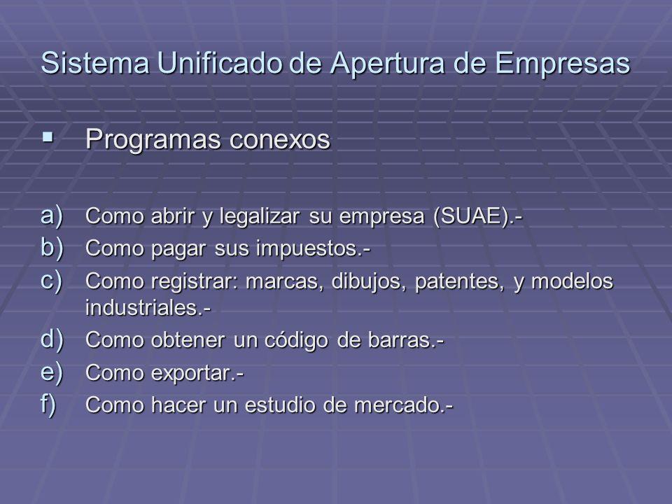 Sistema Unificado de Apertura de Empresas