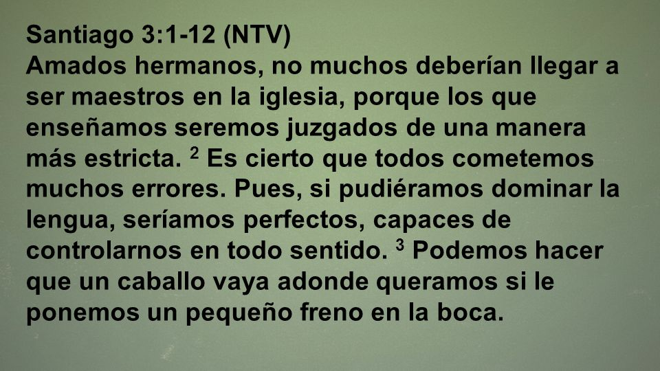 Santiago 3:1-12 (NTV)
