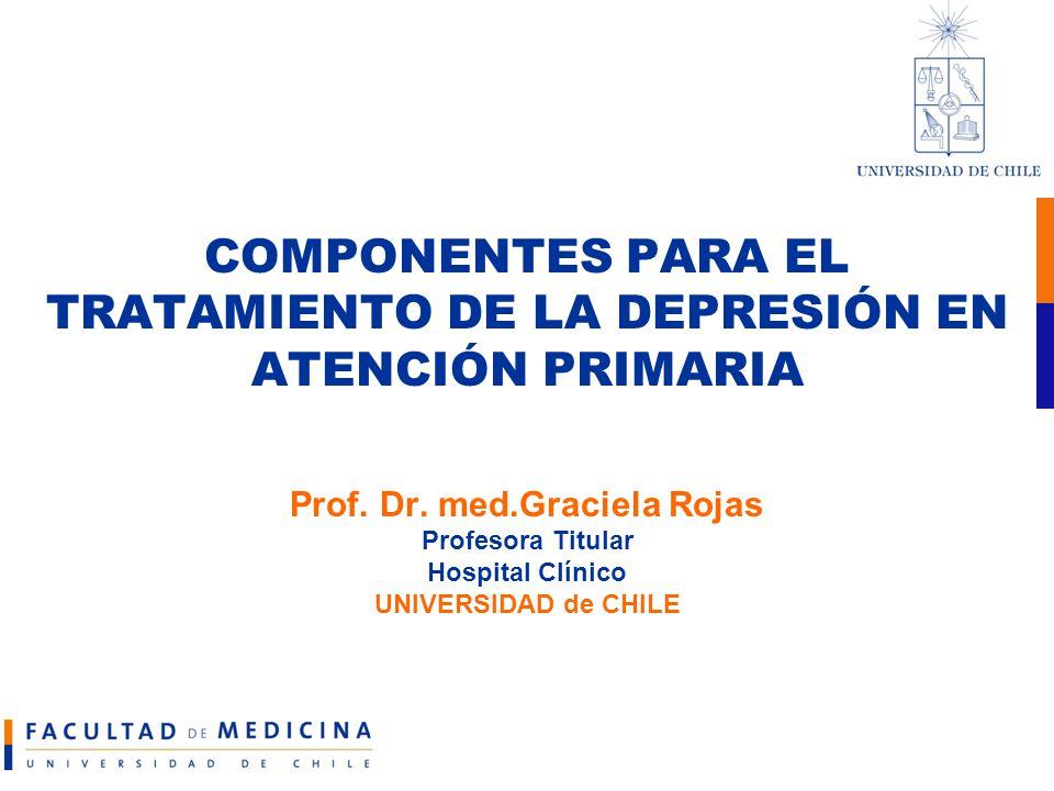COMPONENTES PARA EL TRATAMIENTO DE LA DEPRESIÓN EN ATENCIÓN PRIMARIA Prof.