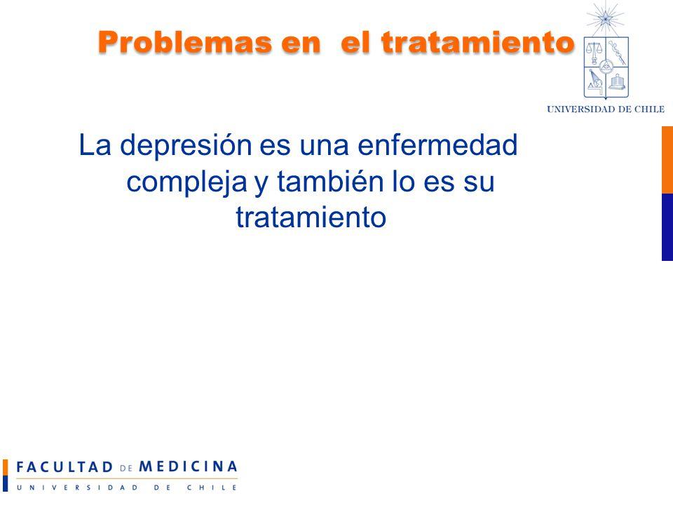 Problemas en el tratamiento
