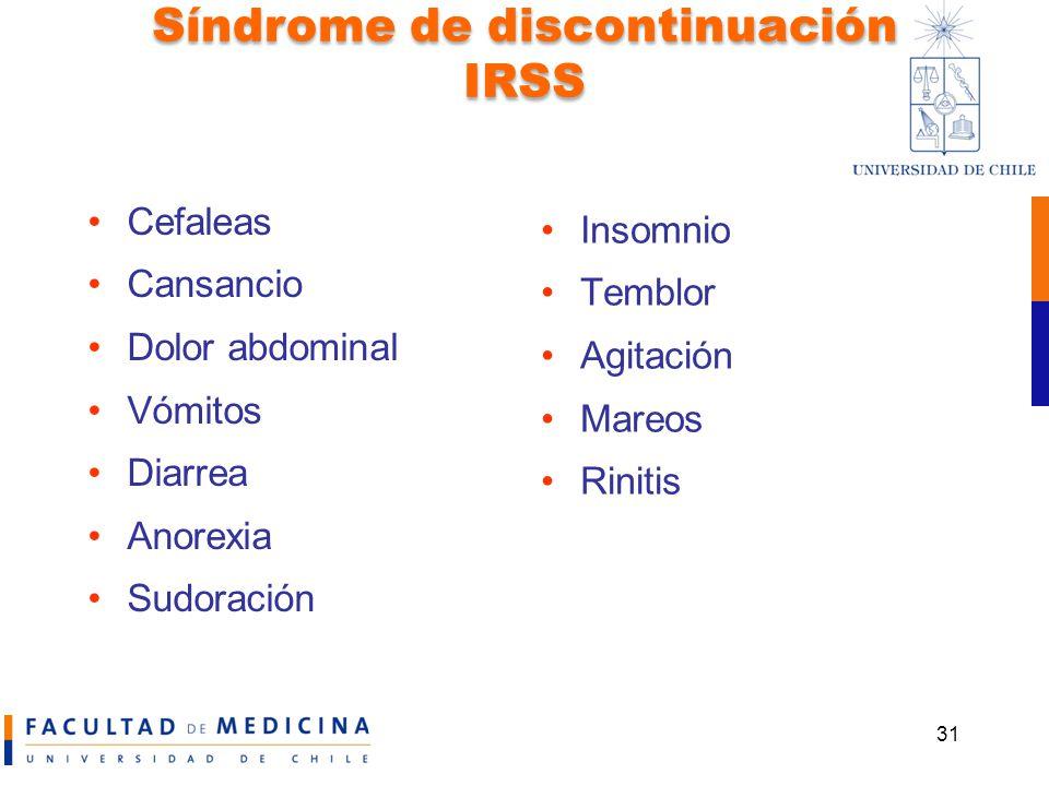 Síndrome de discontinuación IRSS