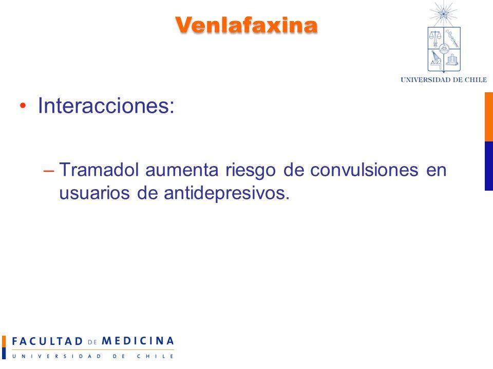 Venlafaxina Interacciones: