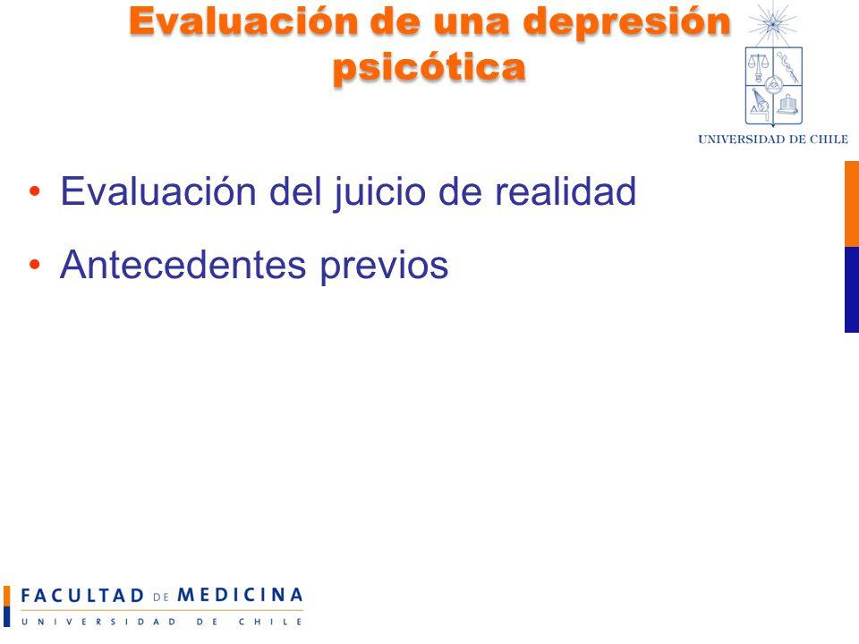 Evaluación de una depresión psicótica