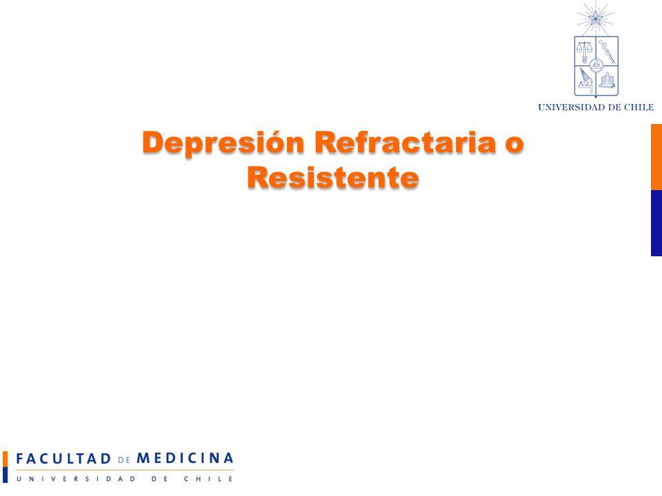 Depresión Refractaria o Resistente