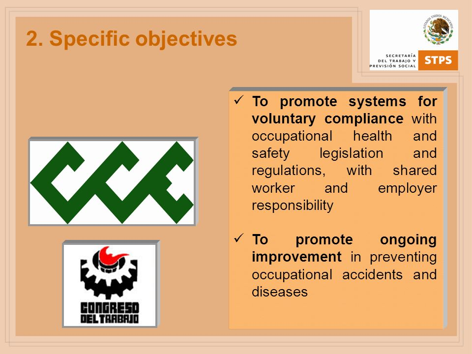 2. Specific objectives