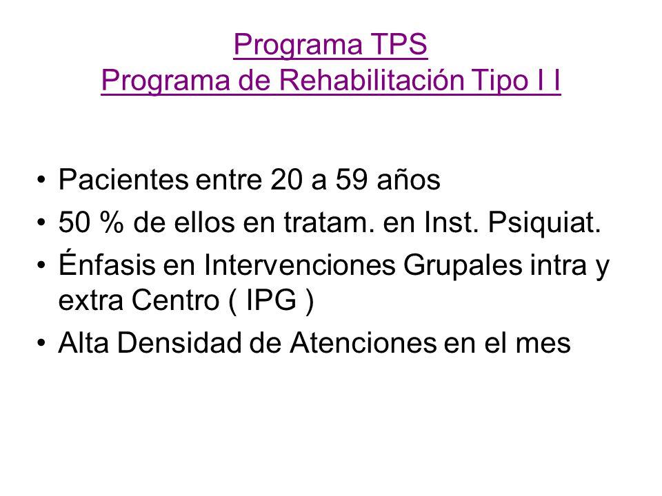 Programa TPS Programa de Rehabilitación Tipo I I
