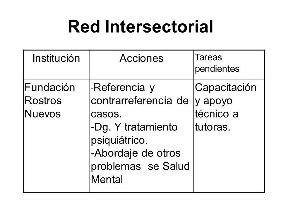 Red Intersectorial Institución Acciones Fundación Rostros Nuevos