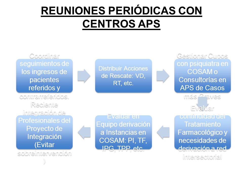 REUNIONES PERIÓDICAS CON CENTROS APS