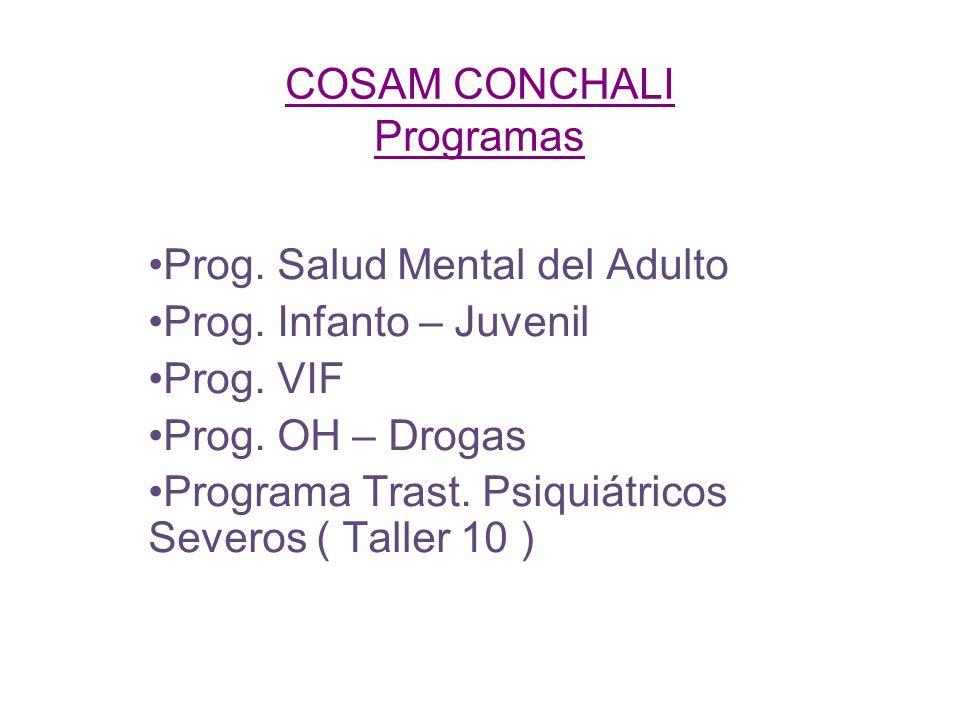 COSAM CONCHALI Programas