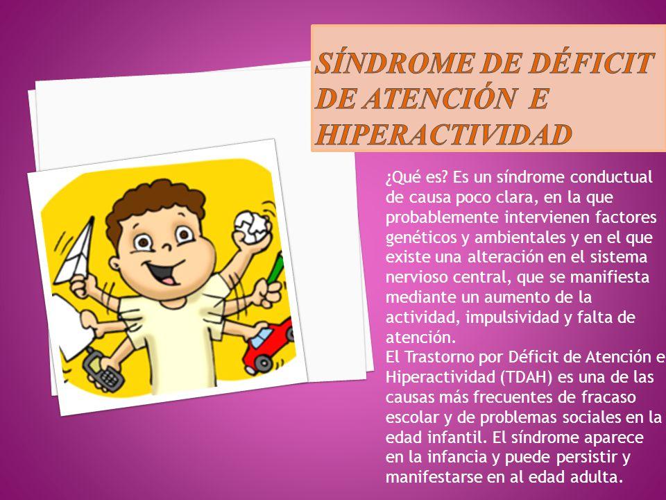 Síndrome de déficit de atención e hiperactividad
