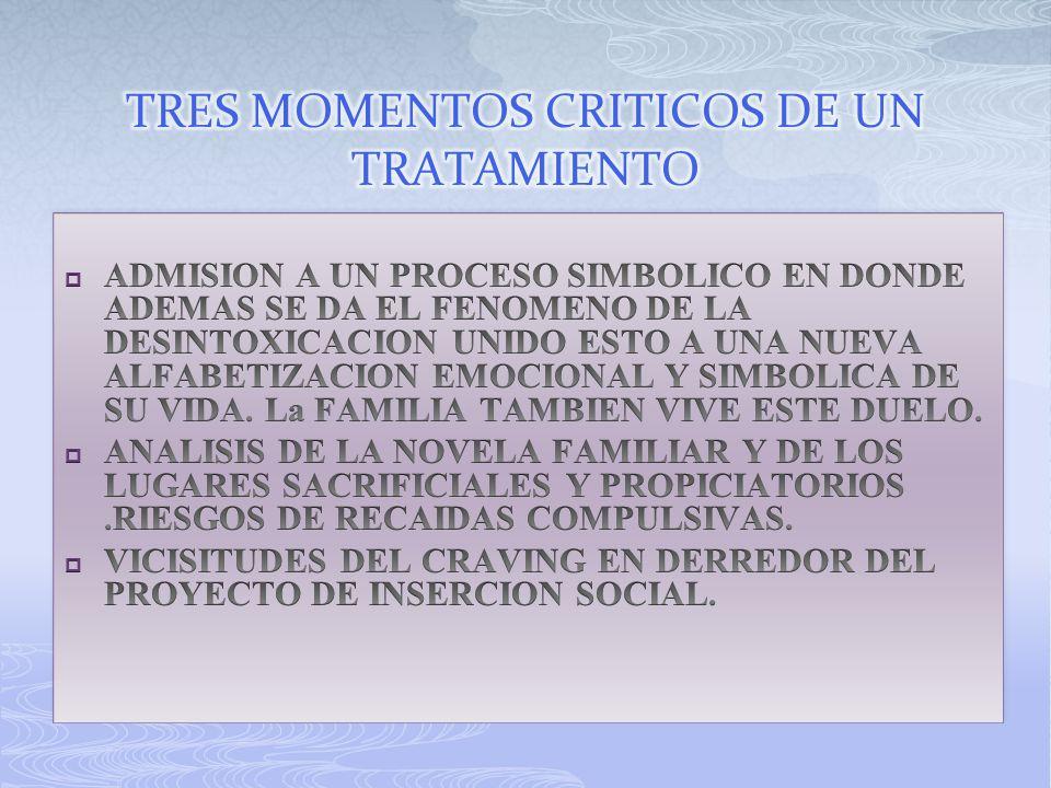 TRES MOMENTOS CRITICOS DE UN TRATAMIENTO