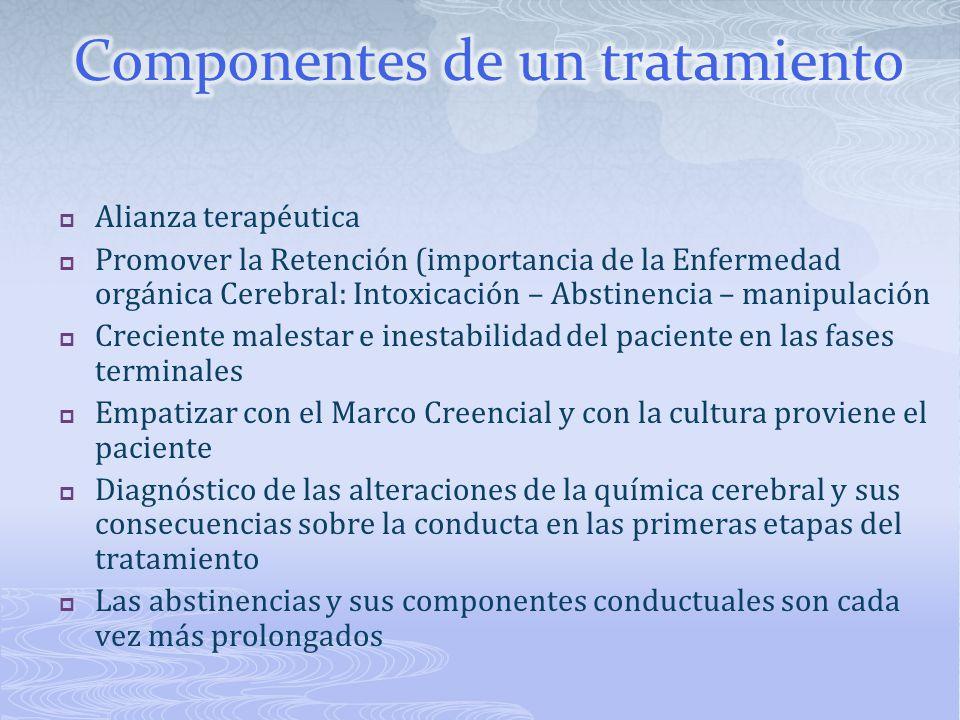 Componentes de un tratamiento