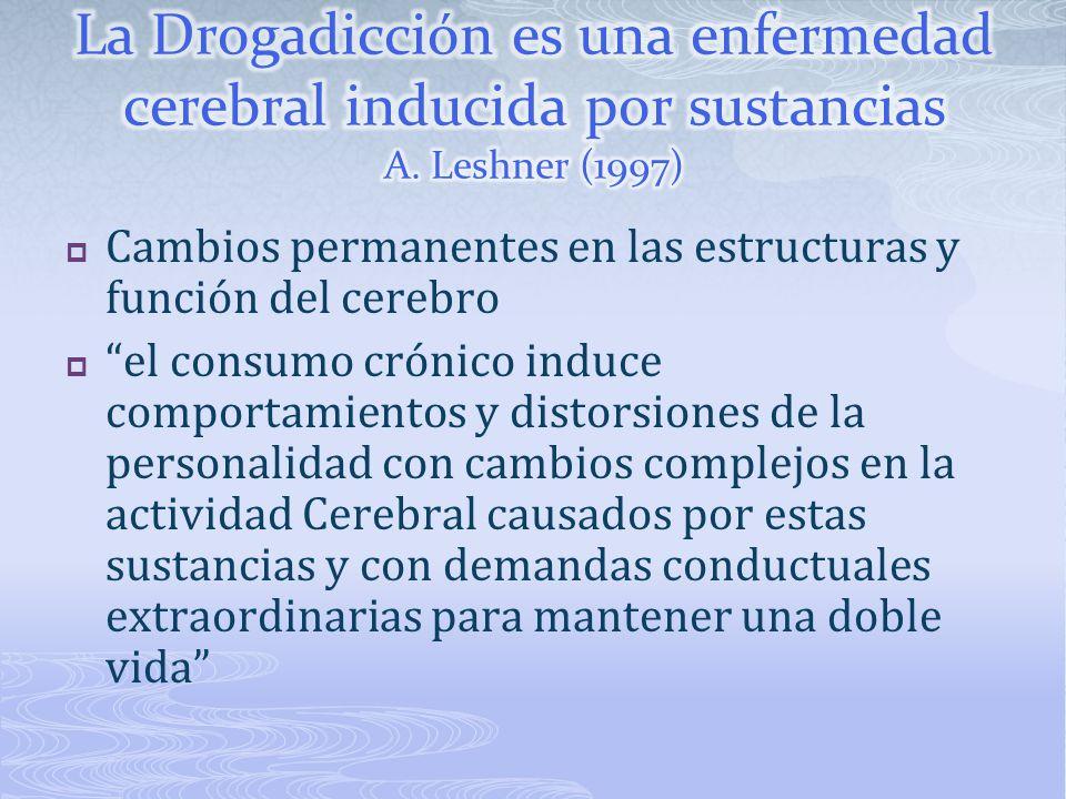 La Drogadicción es una enfermedad cerebral inducida por sustancias A