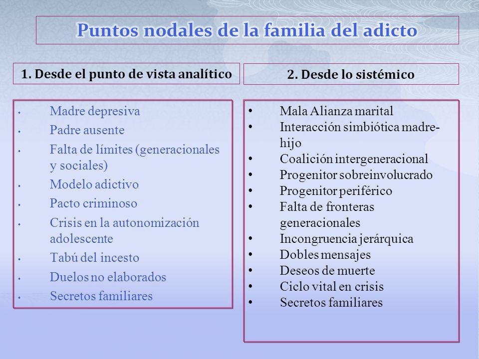 Puntos nodales de la familia del adicto