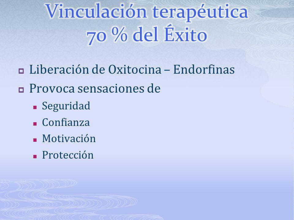 Vinculación terapéutica 70 % del Éxito