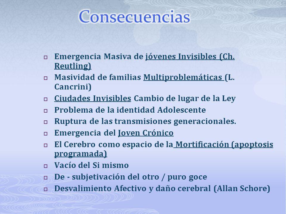 Consecuencias Emergencia Masiva de jóvenes Invisibles (Ch. Reutling)