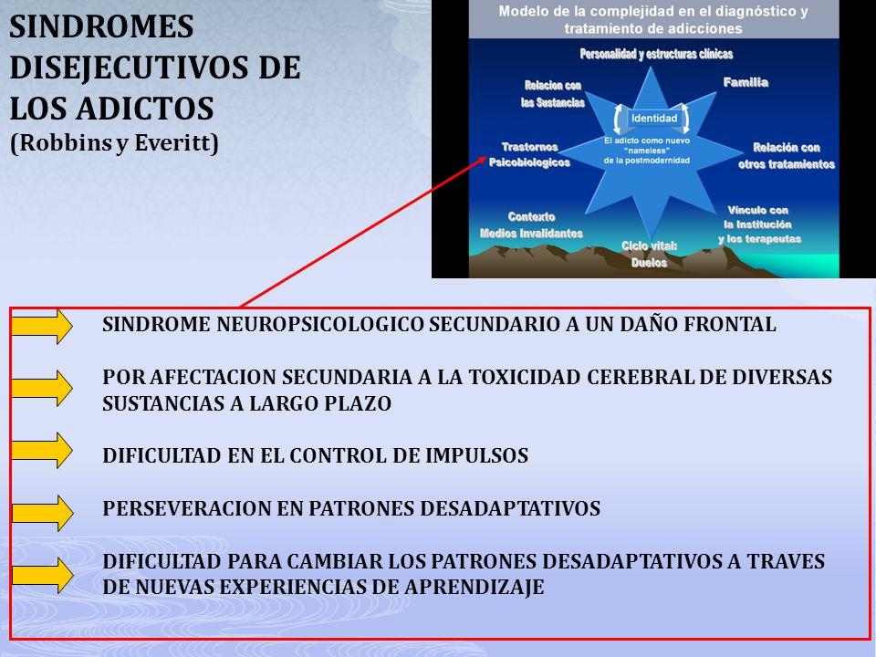 SINDROMES DISEJECUTIVOS DE LOS ADICTOS