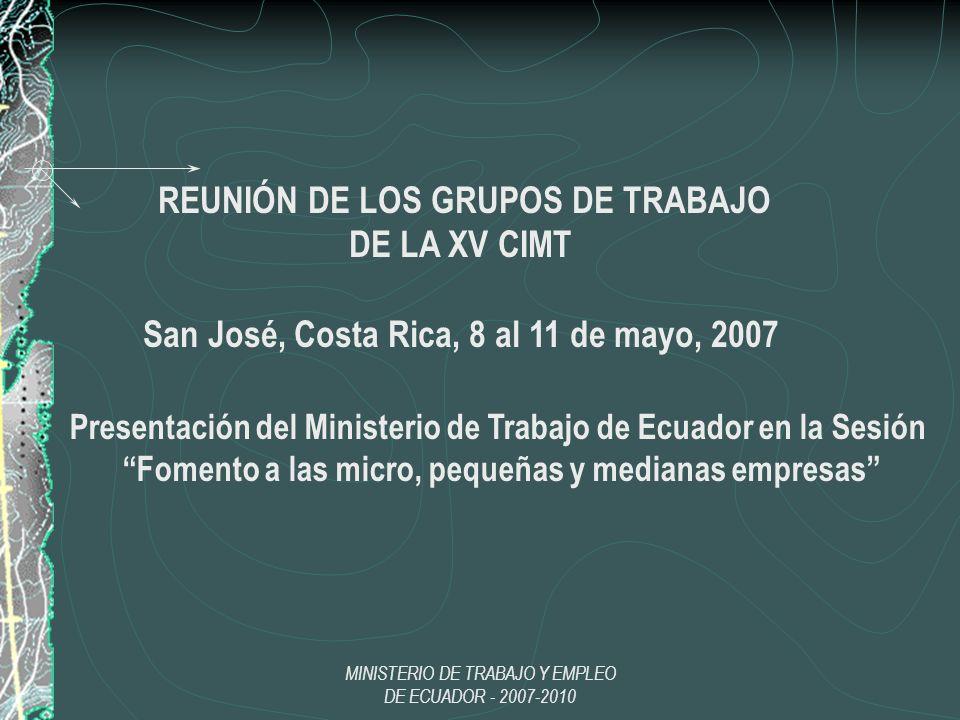 REUNIÓN DE LOS GRUPOS DE TRABAJO DE LA XV CIMT