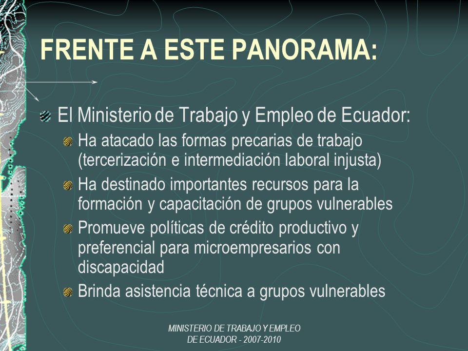 FRENTE A ESTE PANORAMA: