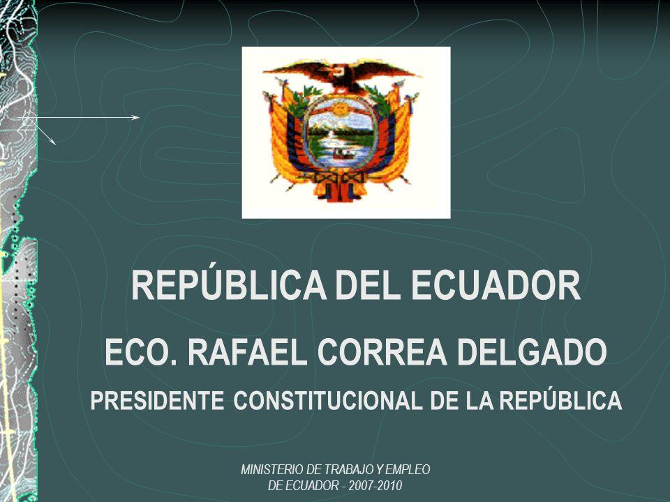 ECO. RAFAEL CORREA DELGADO PRESIDENTE CONSTITUCIONAL DE LA REPÚBLICA