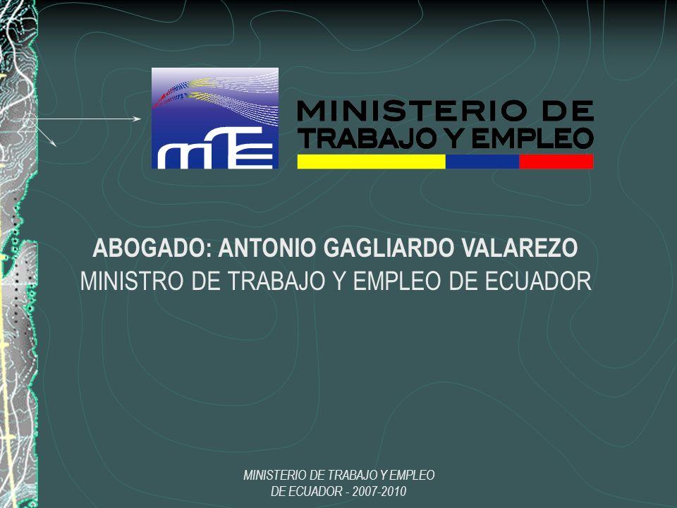 ABOGADO: ANTONIO GAGLIARDO VALAREZO