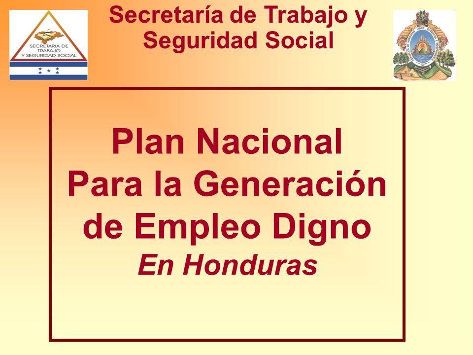 Plan Nacional Para la Generación de Empleo Digno