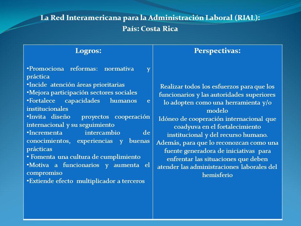 La Red Interamericana para la Administración Laboral (RIAL):
