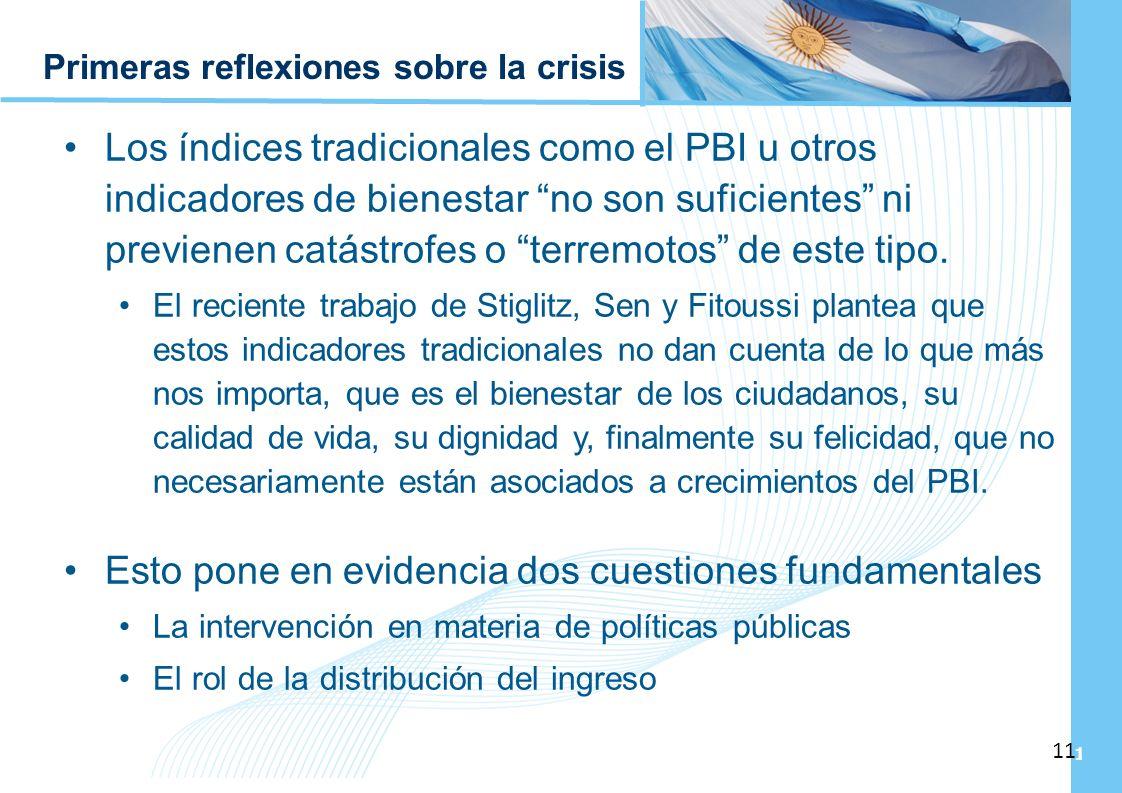 Primeras reflexiones sobre la crisis